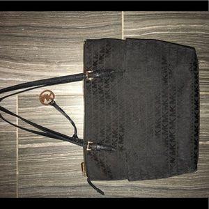 Michael Kors signature black tote bag